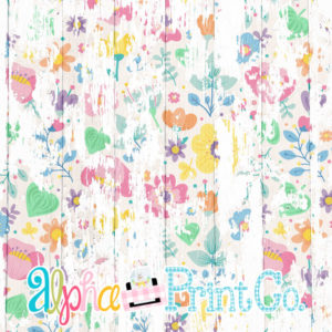 Backdrop- Distressed Wood-Summer Floral