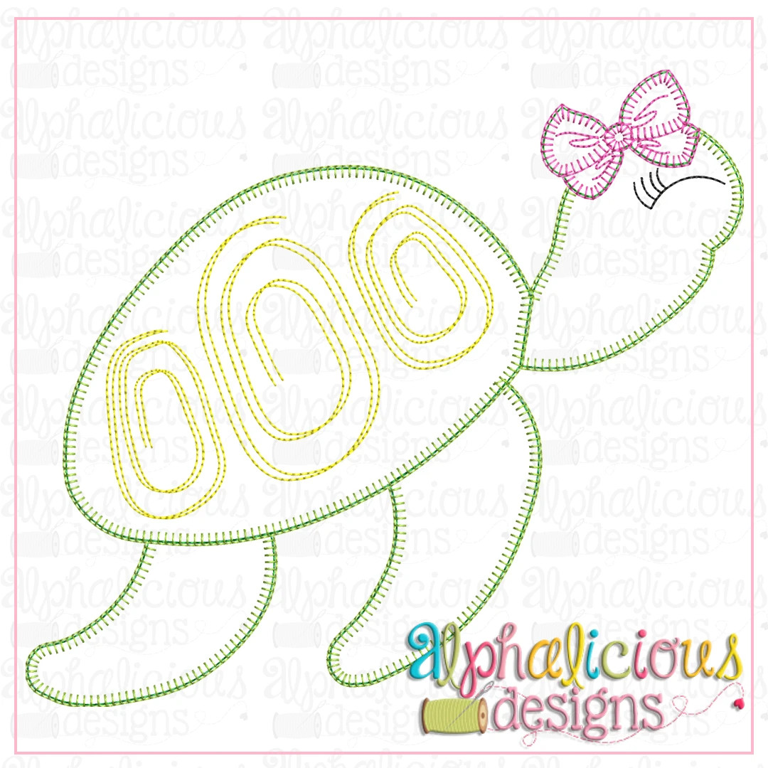 Sea Turtle with Bow-Blanket
