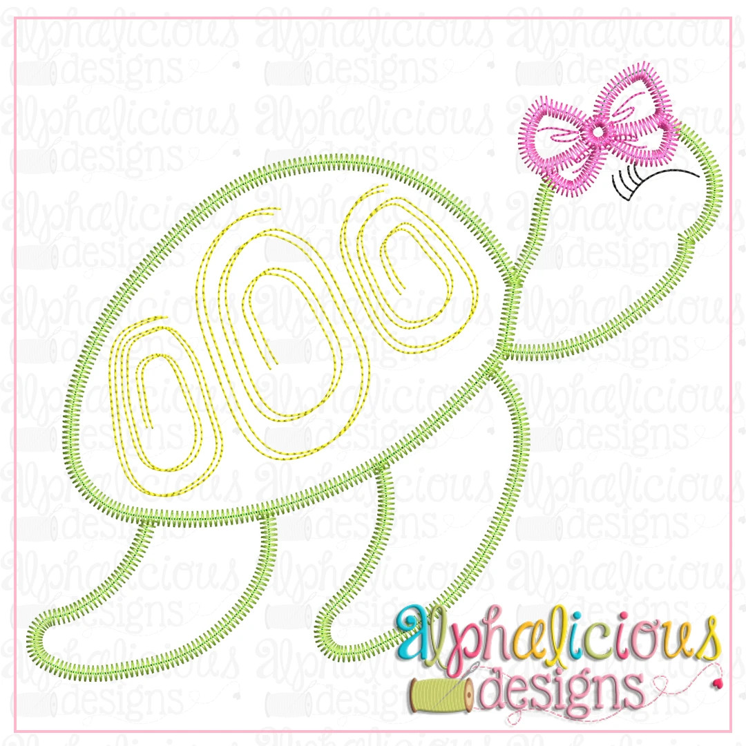 Sea Turtle with Bow-ZigZag