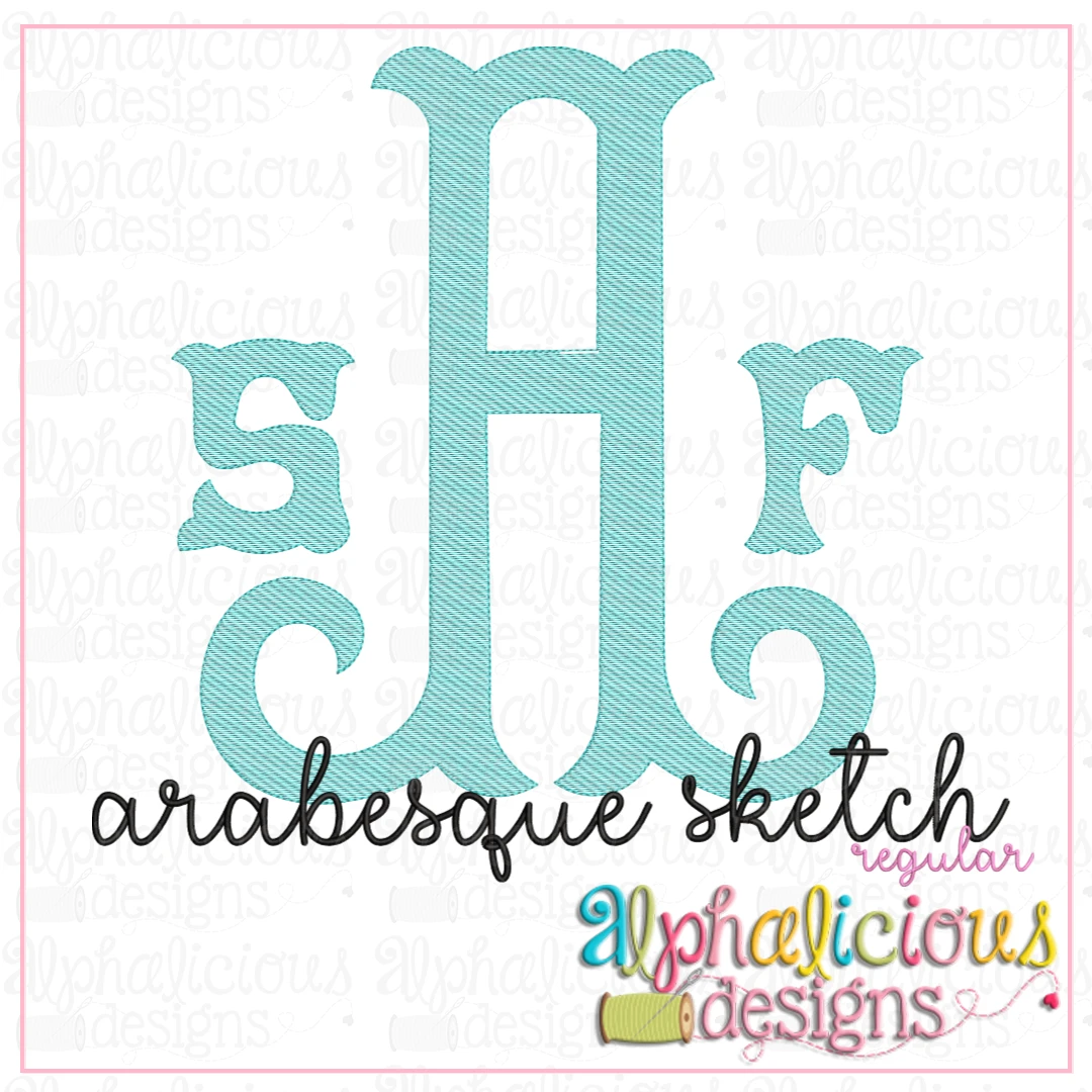 Arabesque Monogram Font-Sketch