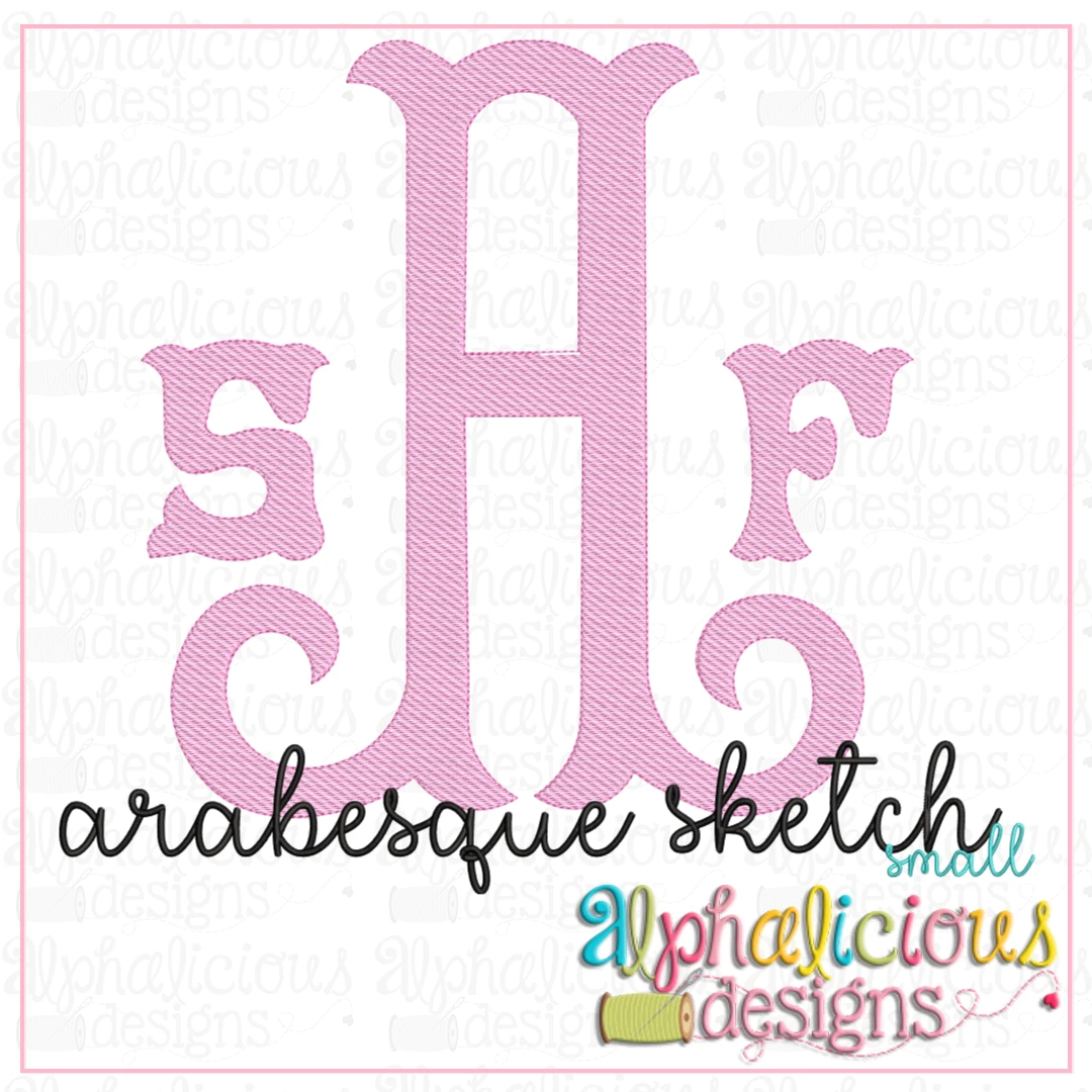 Arabesque Monogram Font- Small