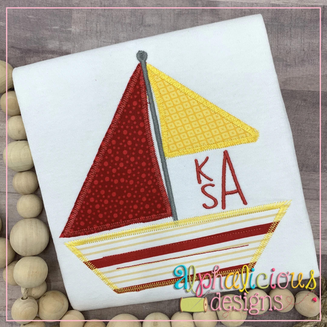 Sailboat Monogram-ZigZag