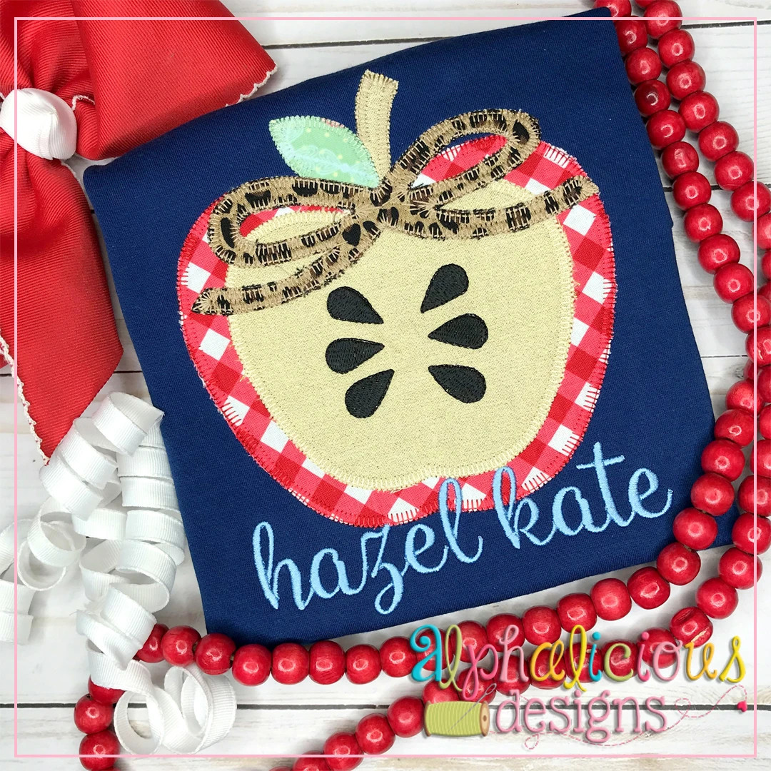 Apple Half with Bow-Blanket