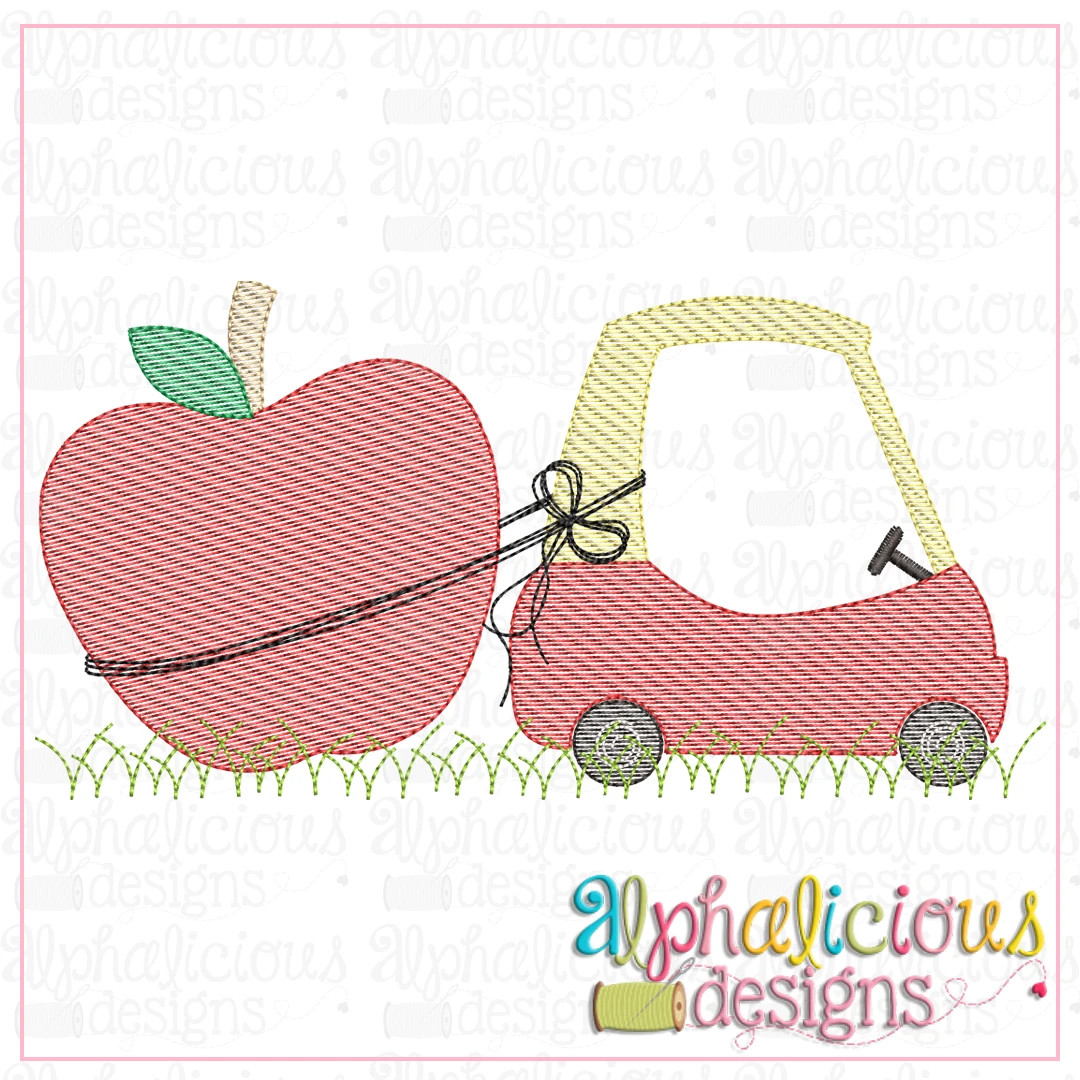 Coupe with Apple-Sketch