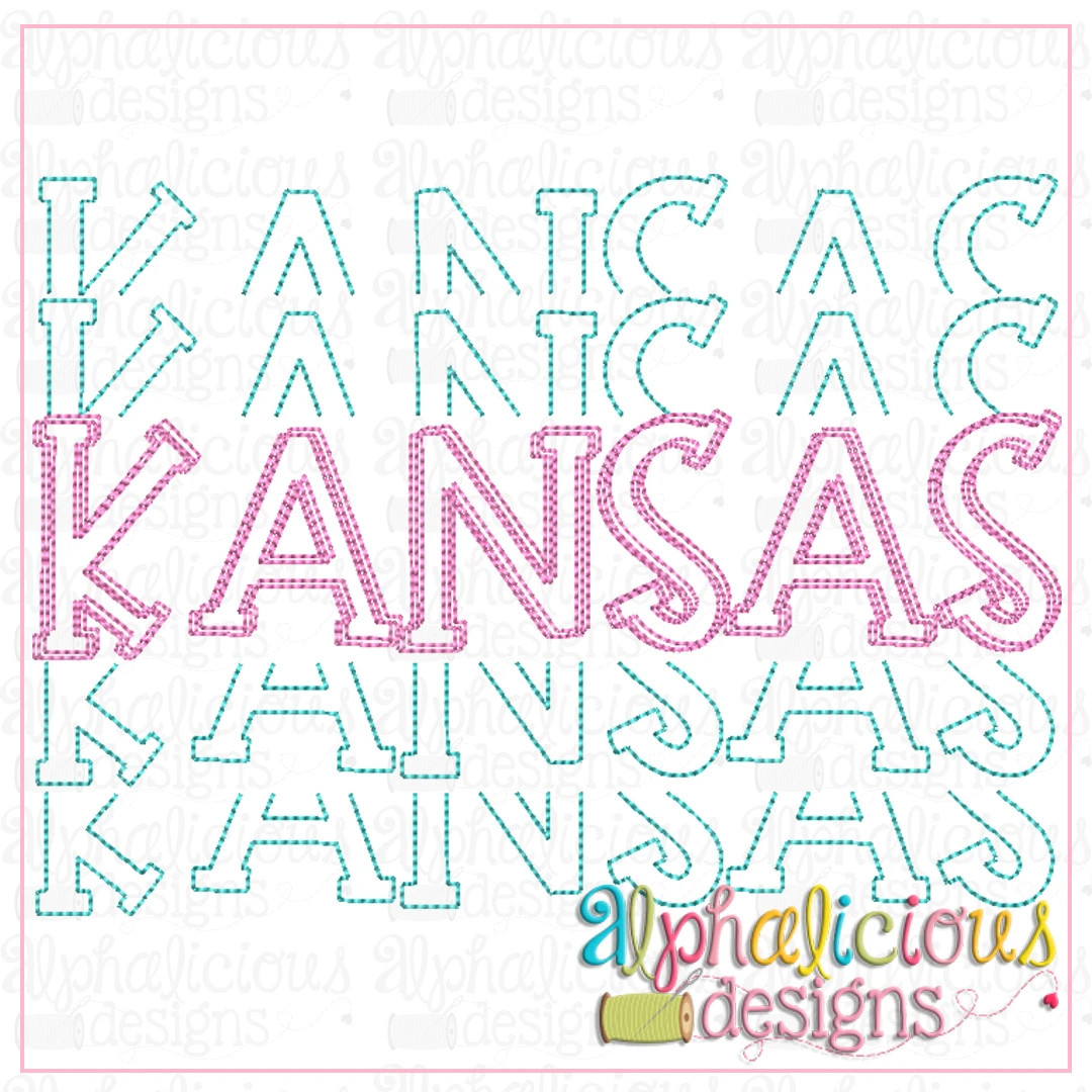 Kansas Stacked-Scribble