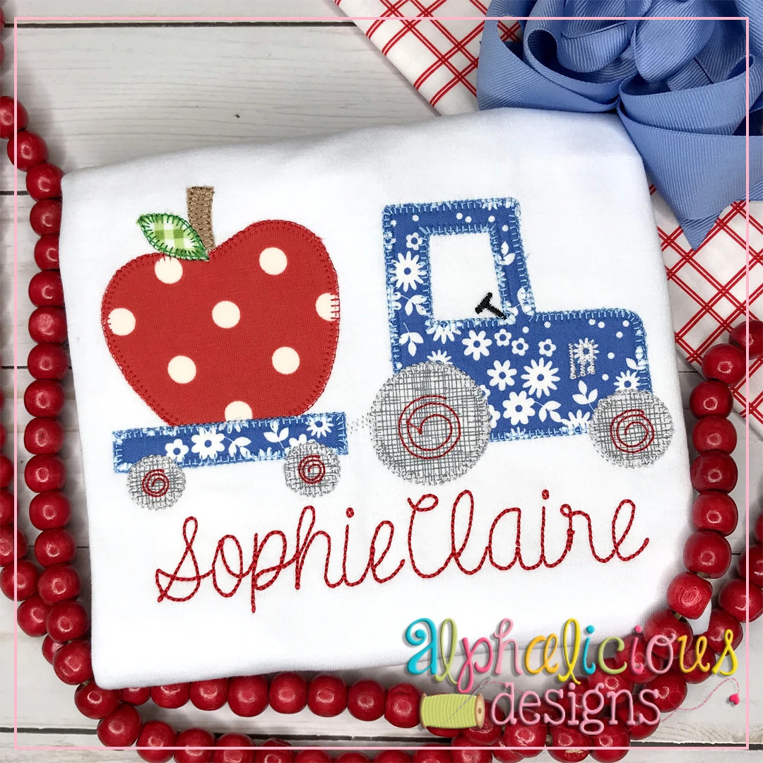 Tractor with Apple-Blanket
