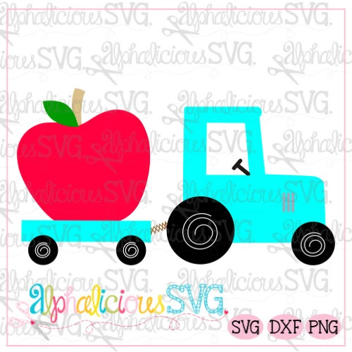 Tractor with Apple-SVG