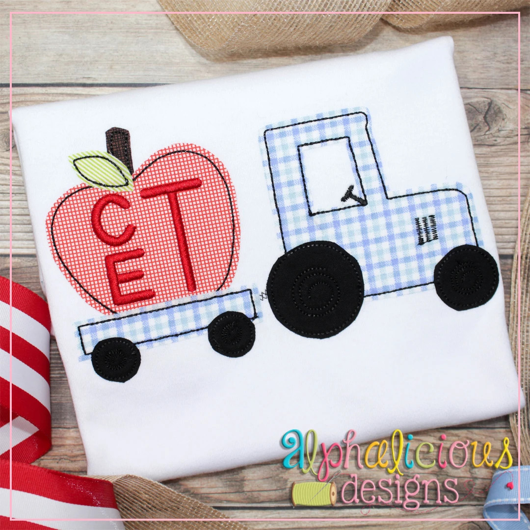 Tractor with Apple-Triple Bean