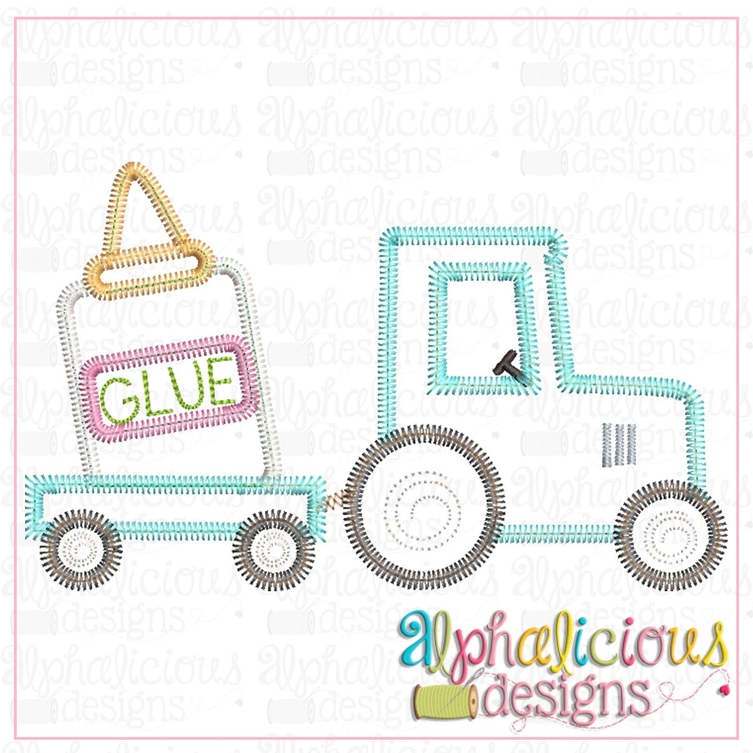 Tractor with Glue-ZigZag