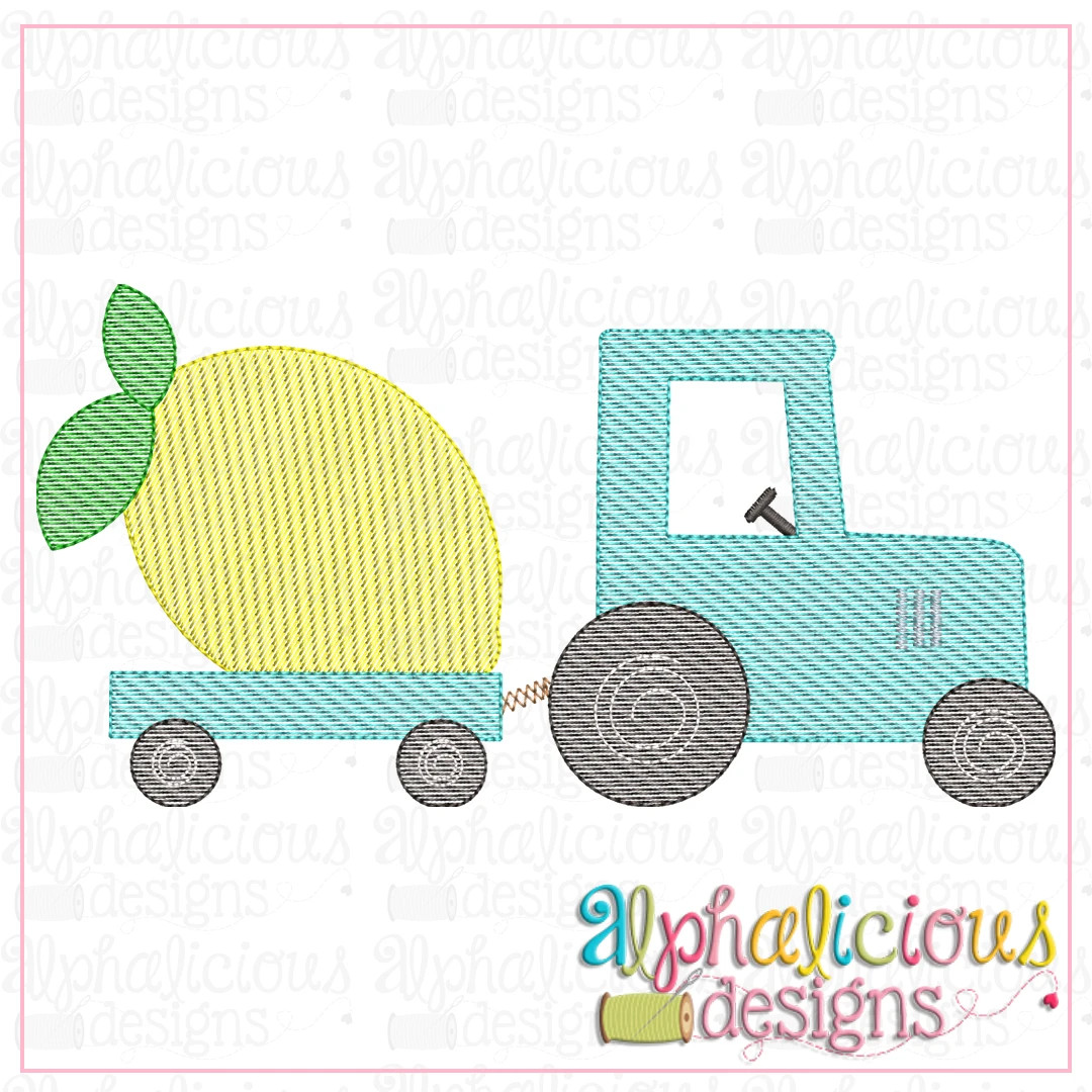 Tractor with Lemon-Sketch