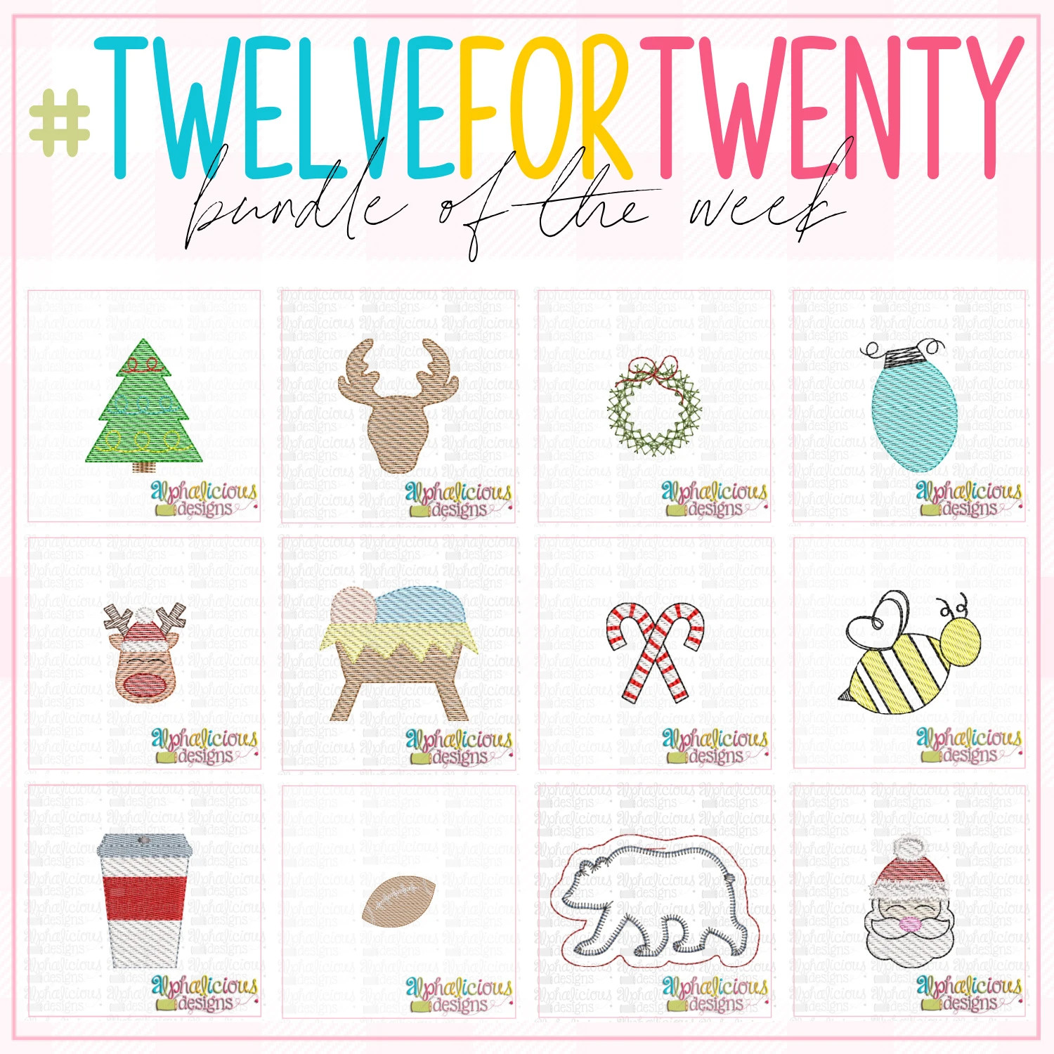 #twelvefortwenty Christmas Ornament Bundle