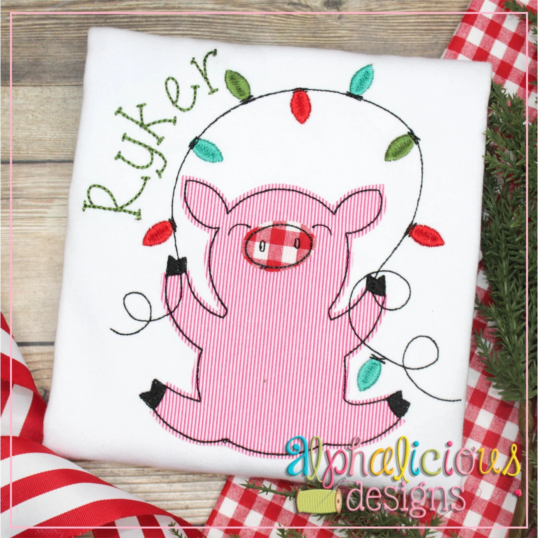 Pig with Lights-Triple Bean