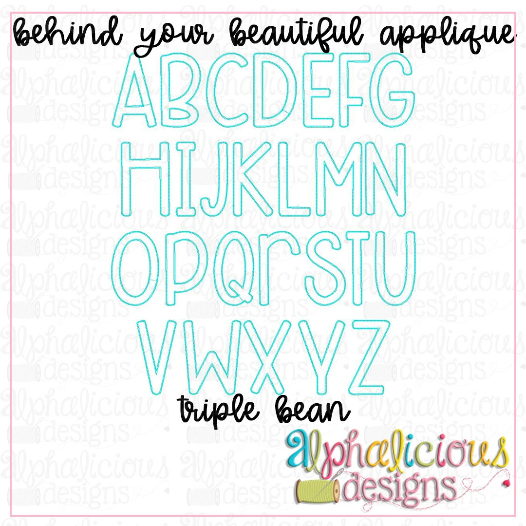 Behind Your Beautiful Applique Font-Triple Bean-Bizzy Mama