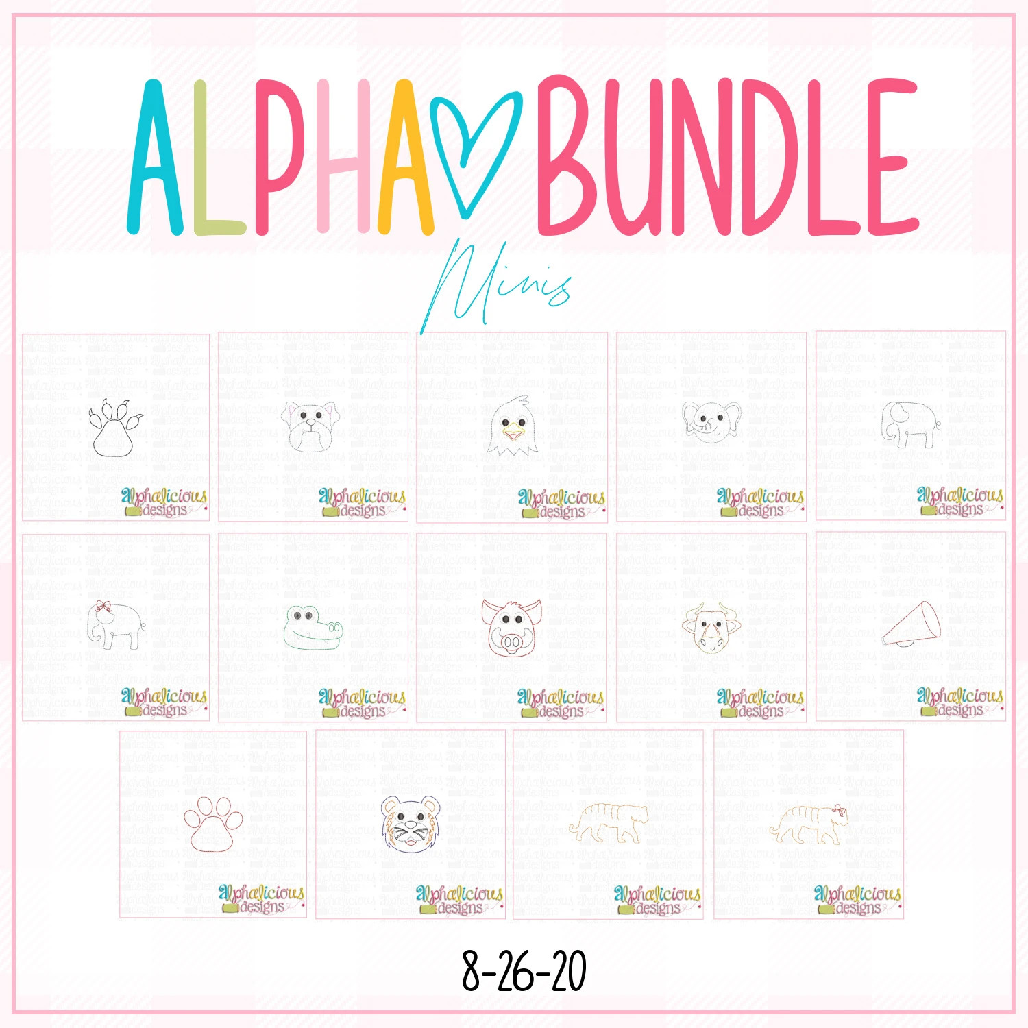 ALPHA BUNDLE-8/26/20 Release-Mini Designs