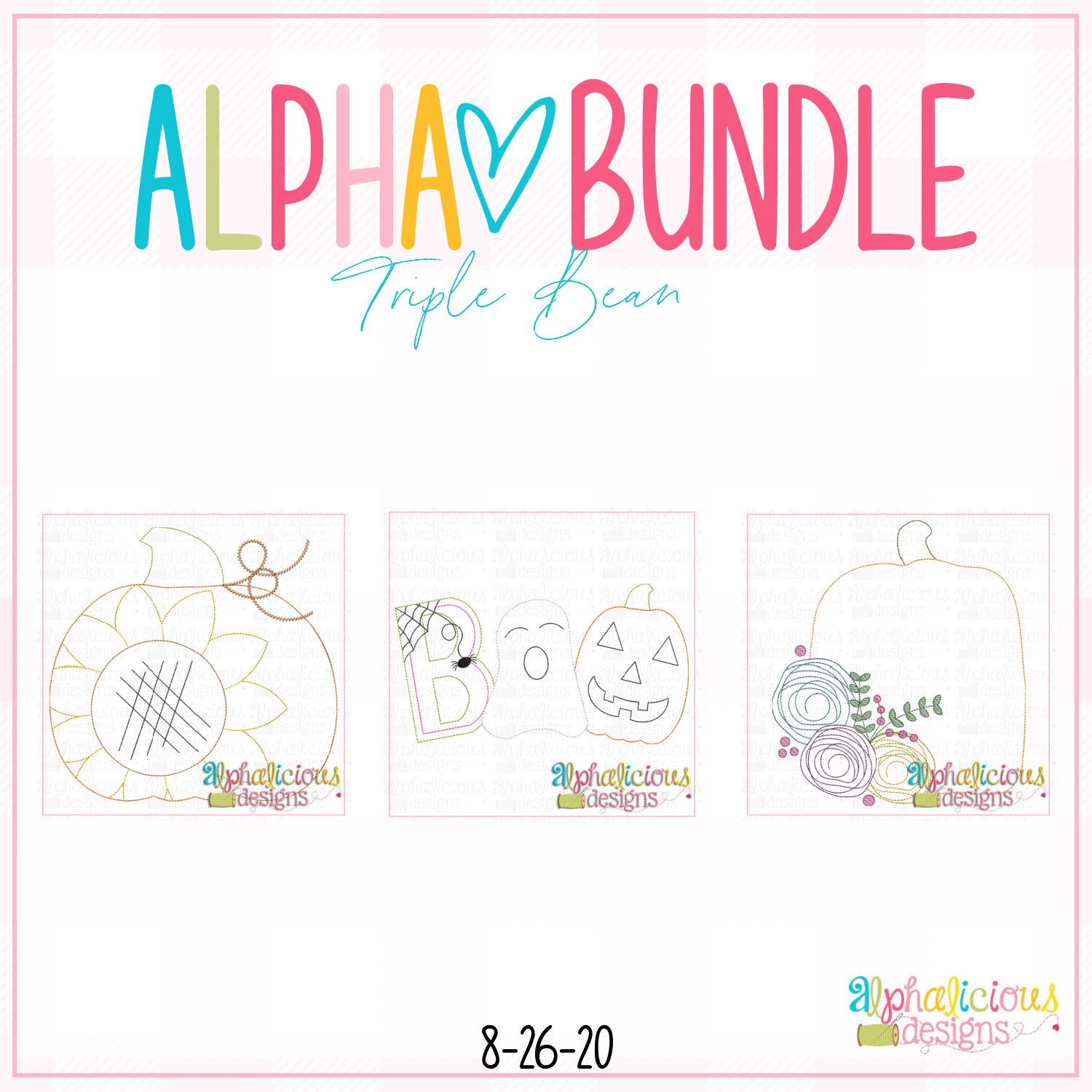 ALPHA BUNDLE-8/26/20 Release-Triple Bean Stitch