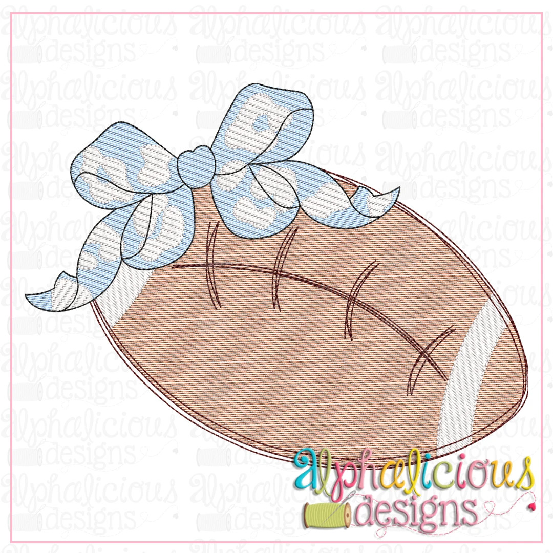 Football with Leopard Bow-Sketch