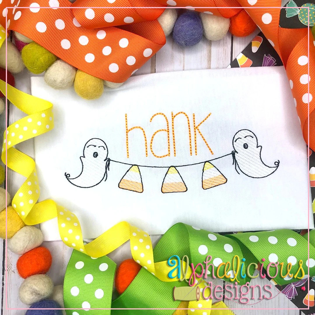 Ghost Bunting-Candy Corn-Sketch