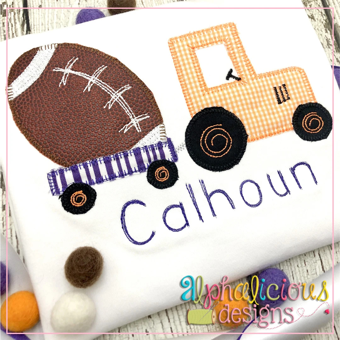 Tractor with Football-Blanket