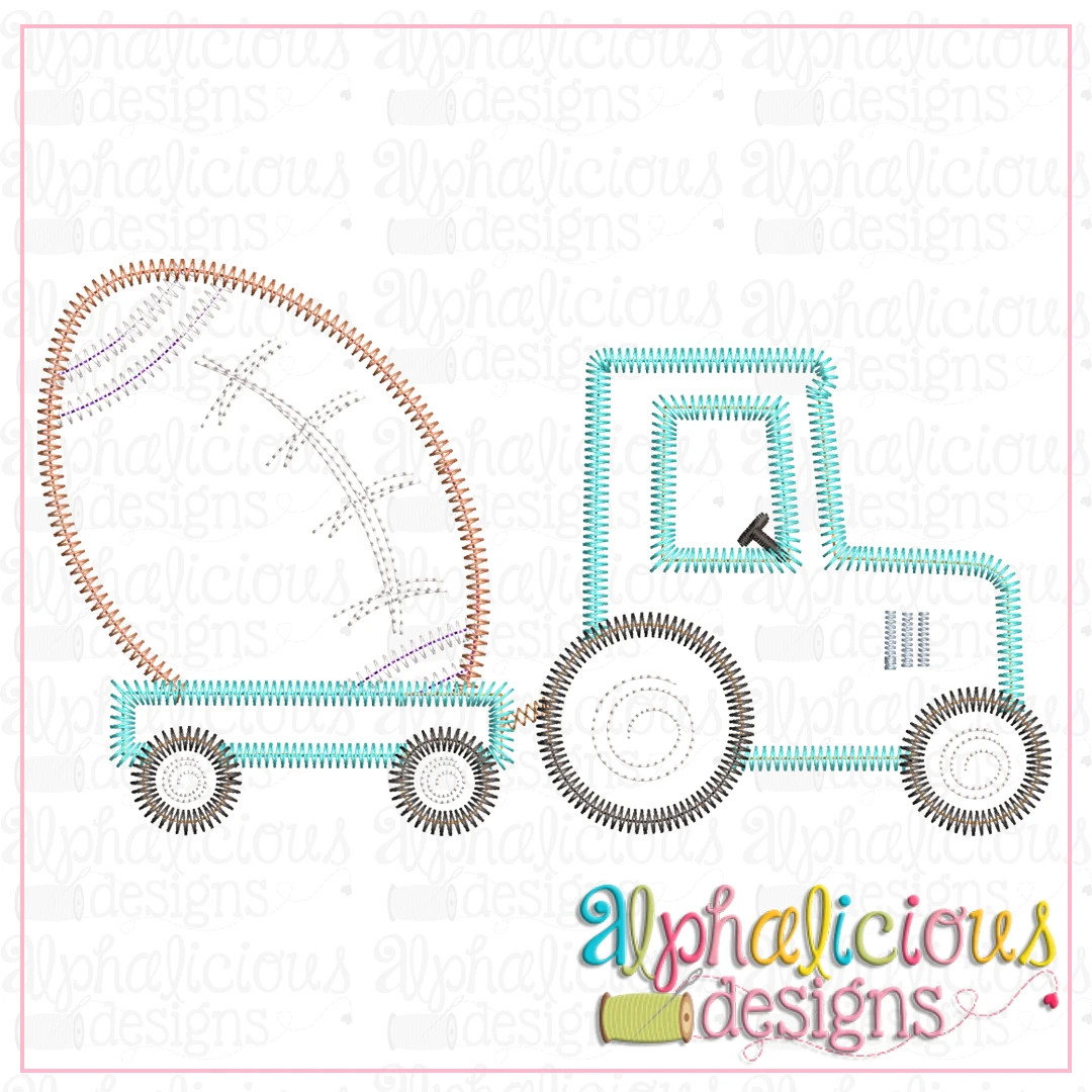 Tractor with Football-ZigZag