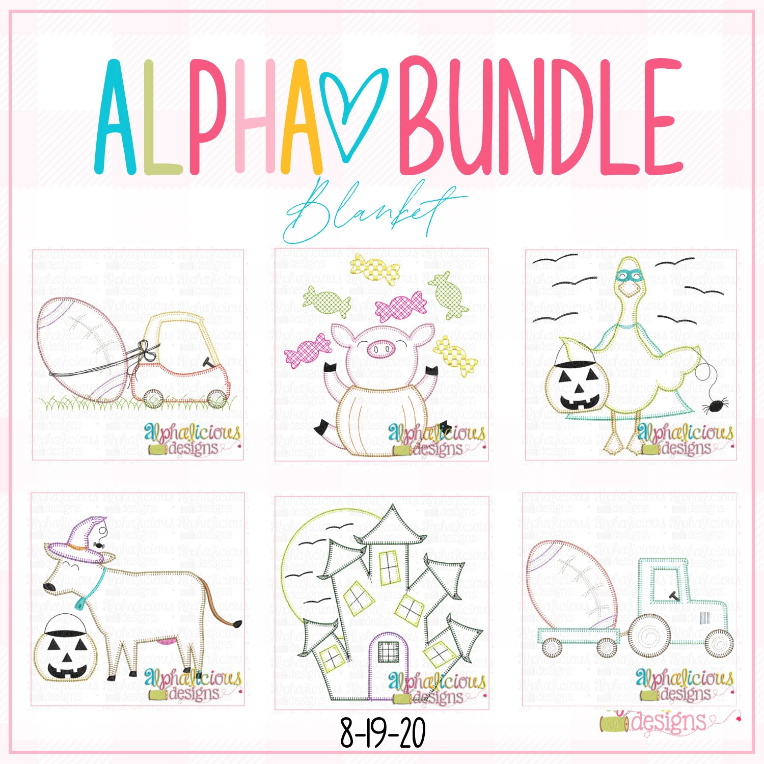 ALPHA BUNDLE-8/19/20 Release-Blanket Stitch