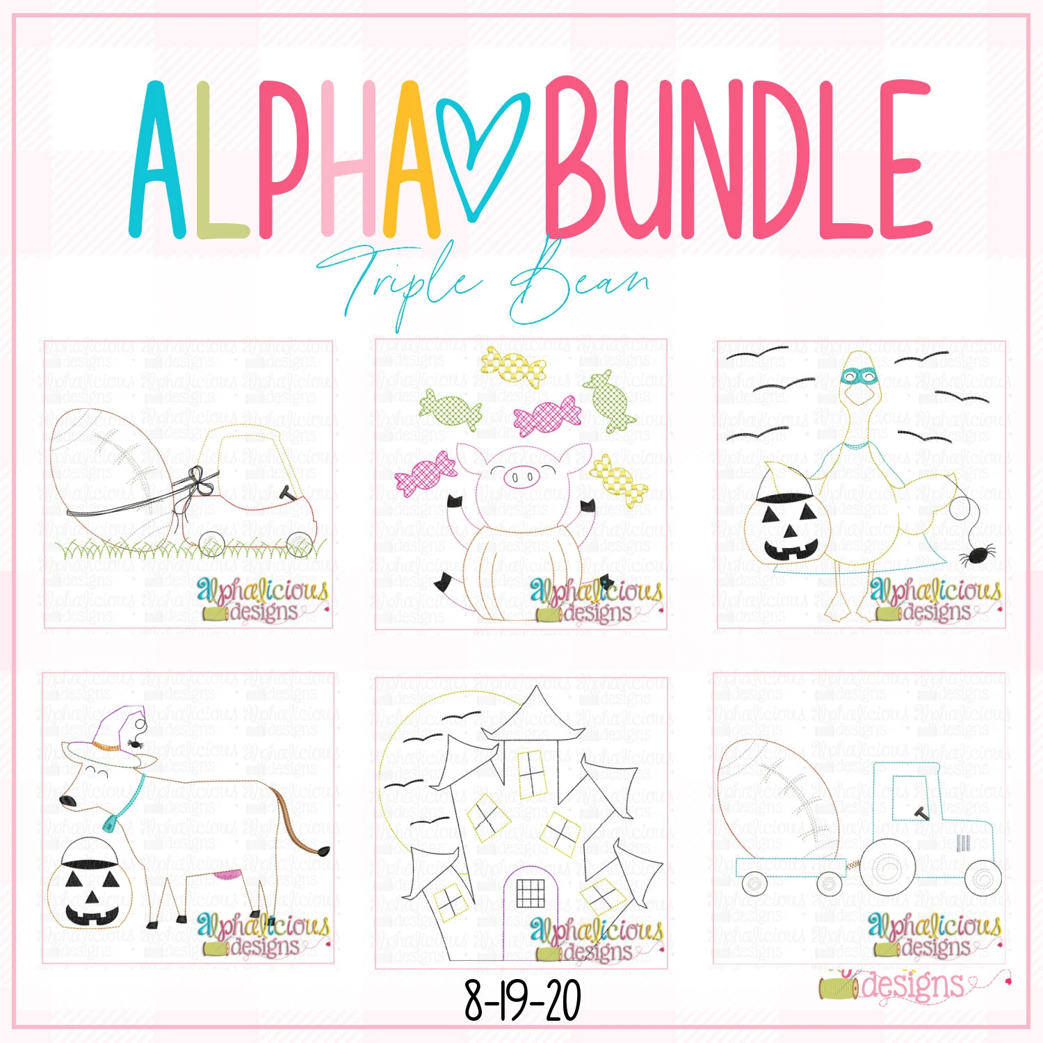 ALPHA BUNDLE-8/19/20 Release-Triple Bean Stitch
