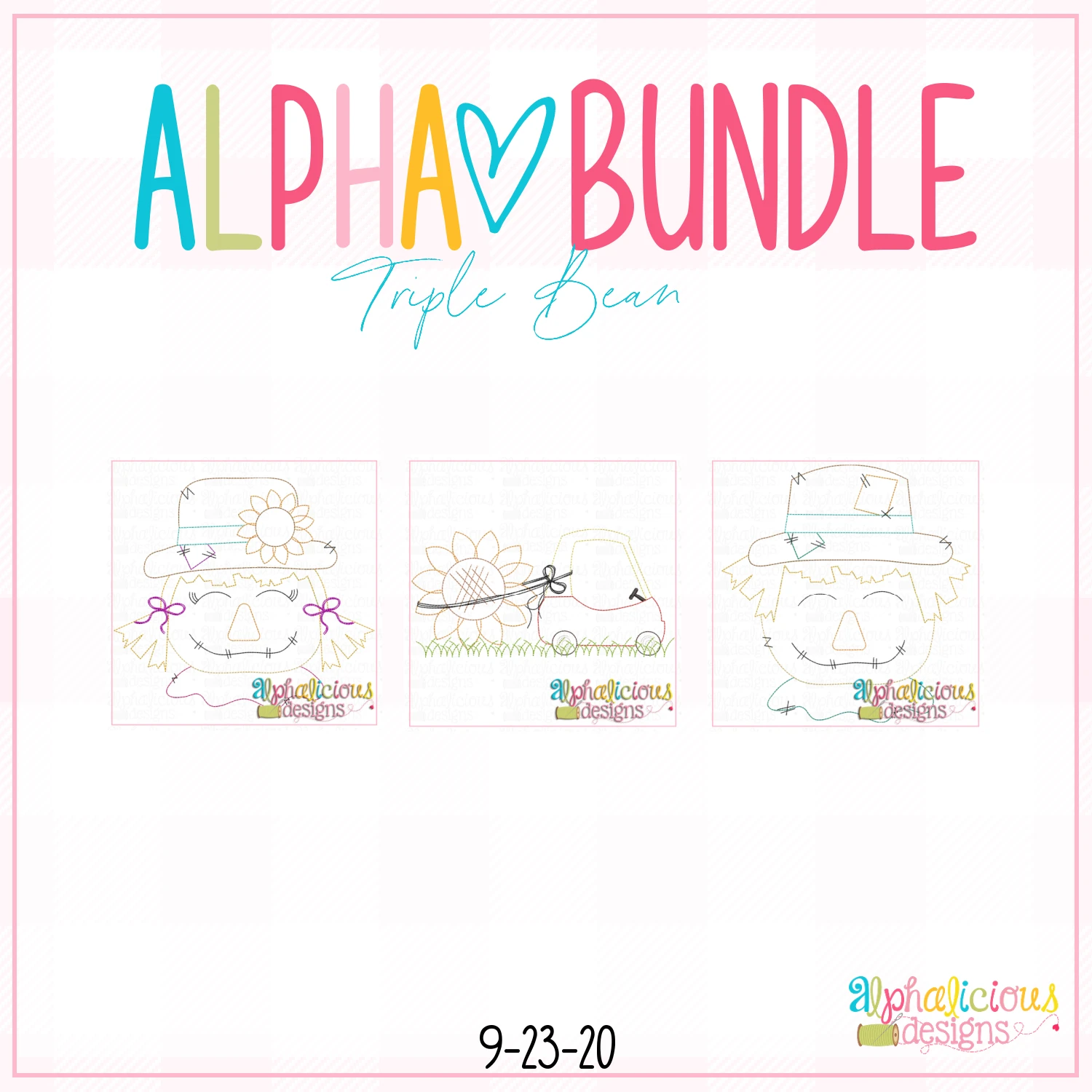 ALPHA BUNDLE-9/25/20 Release-Triple Bean Stitch