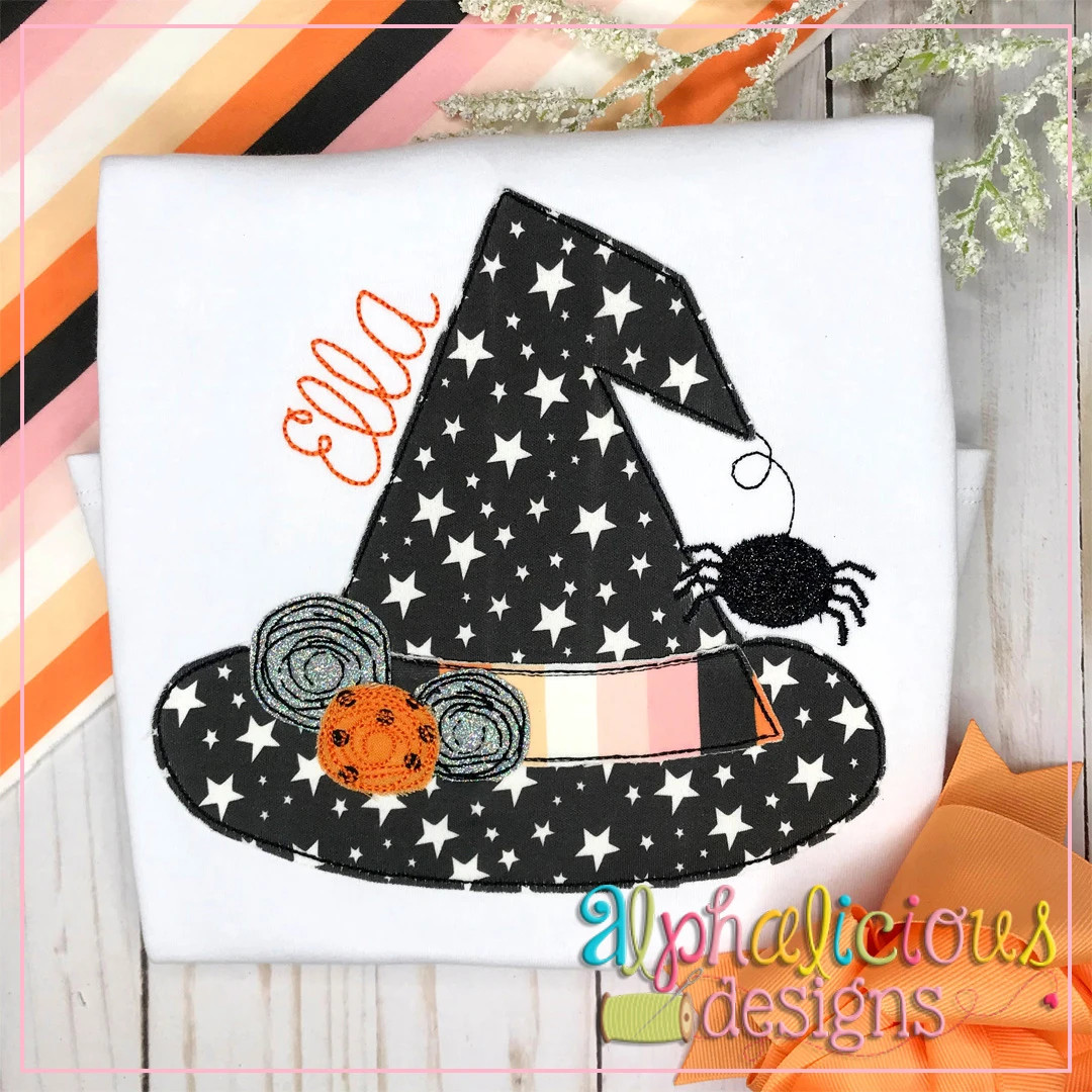 Floral Witch Hat-Triple Bean