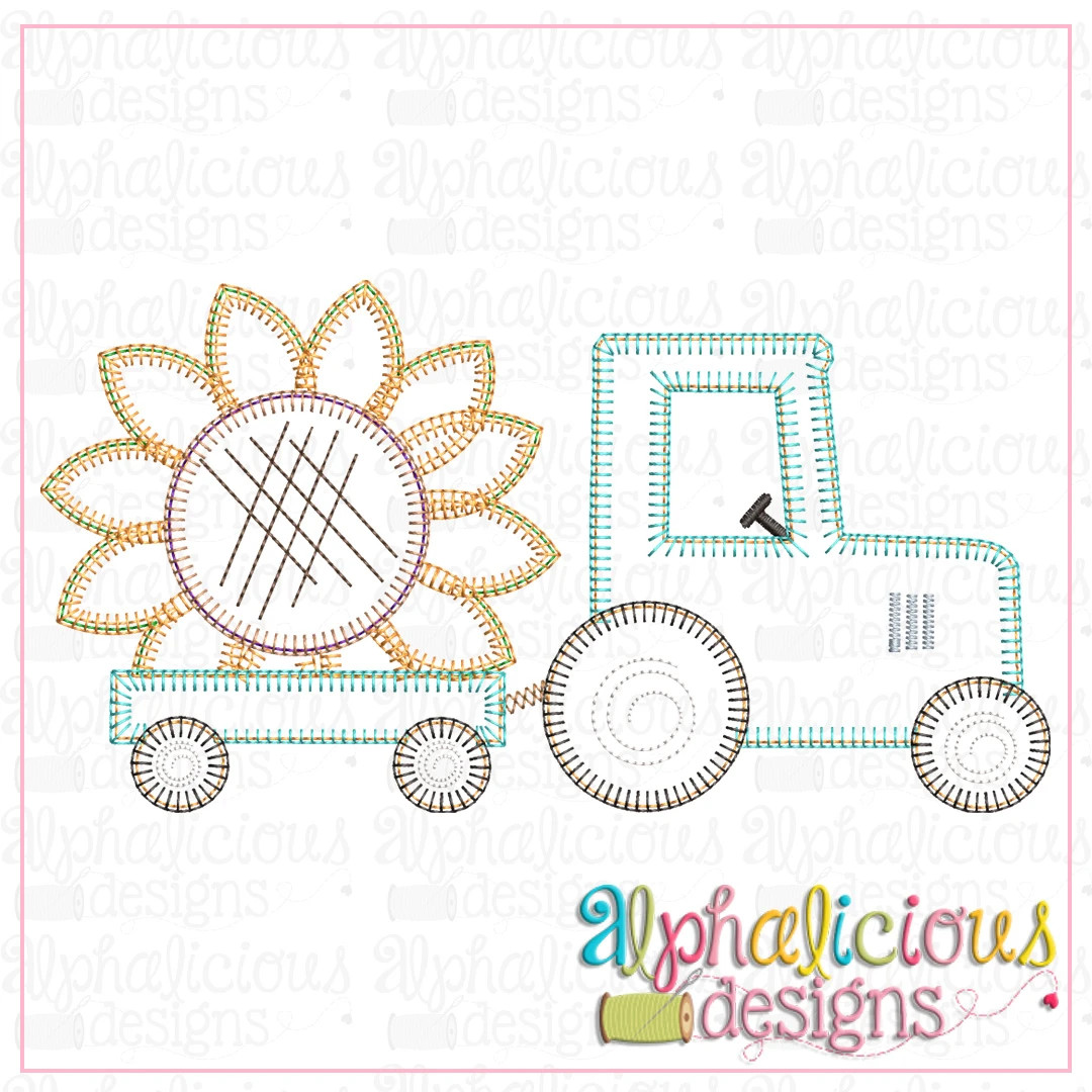 Tractor with Sunflower-Blanket