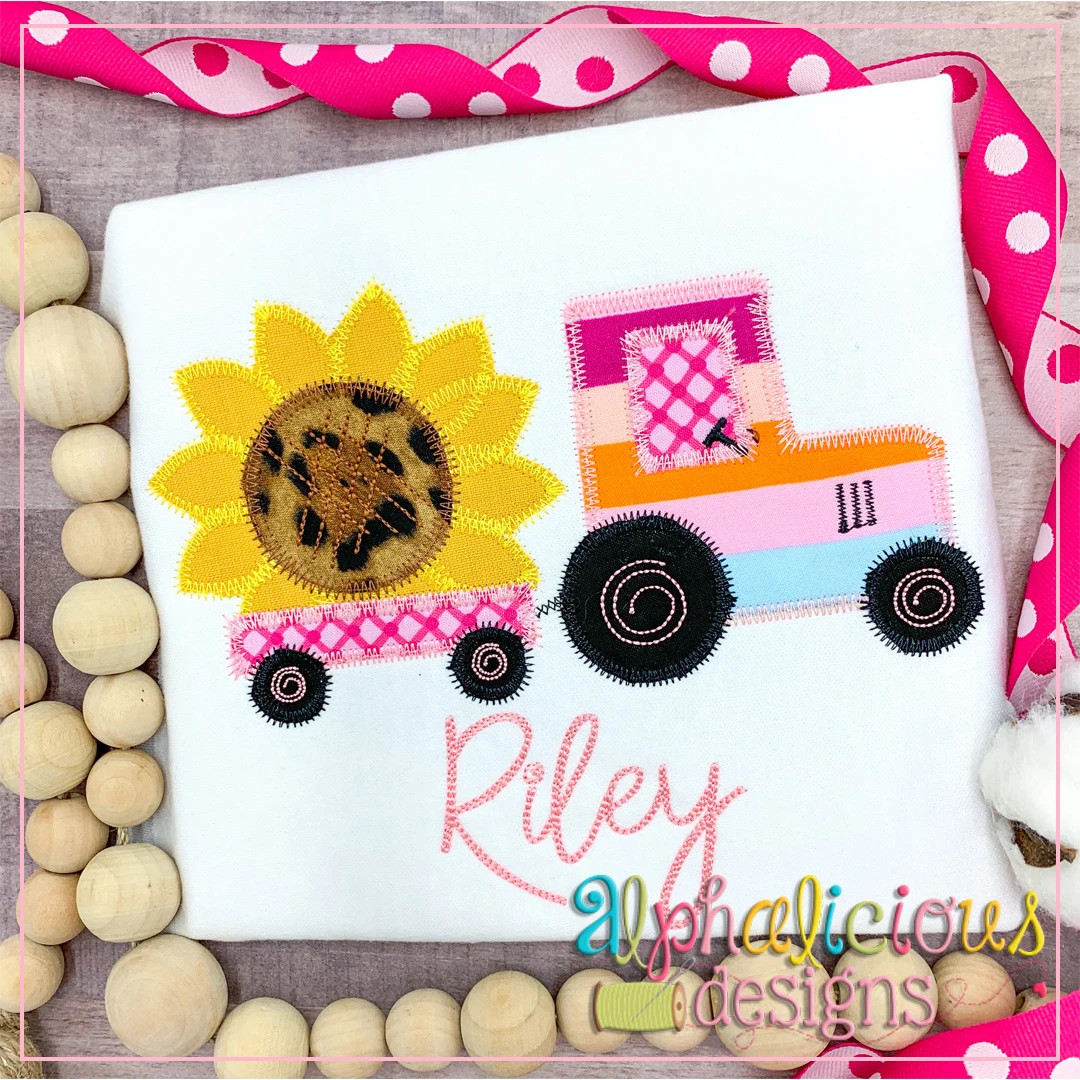 Tractor with Sunflower-ZigZag