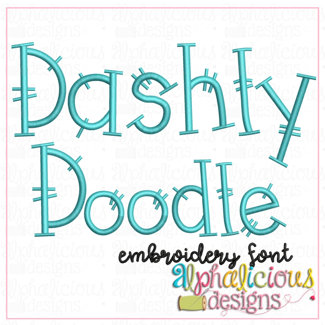 Dashly Doodle Embroidery Font