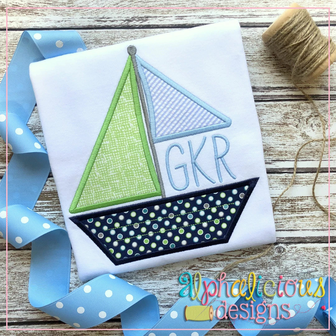 Sailboat Monogram-Satin