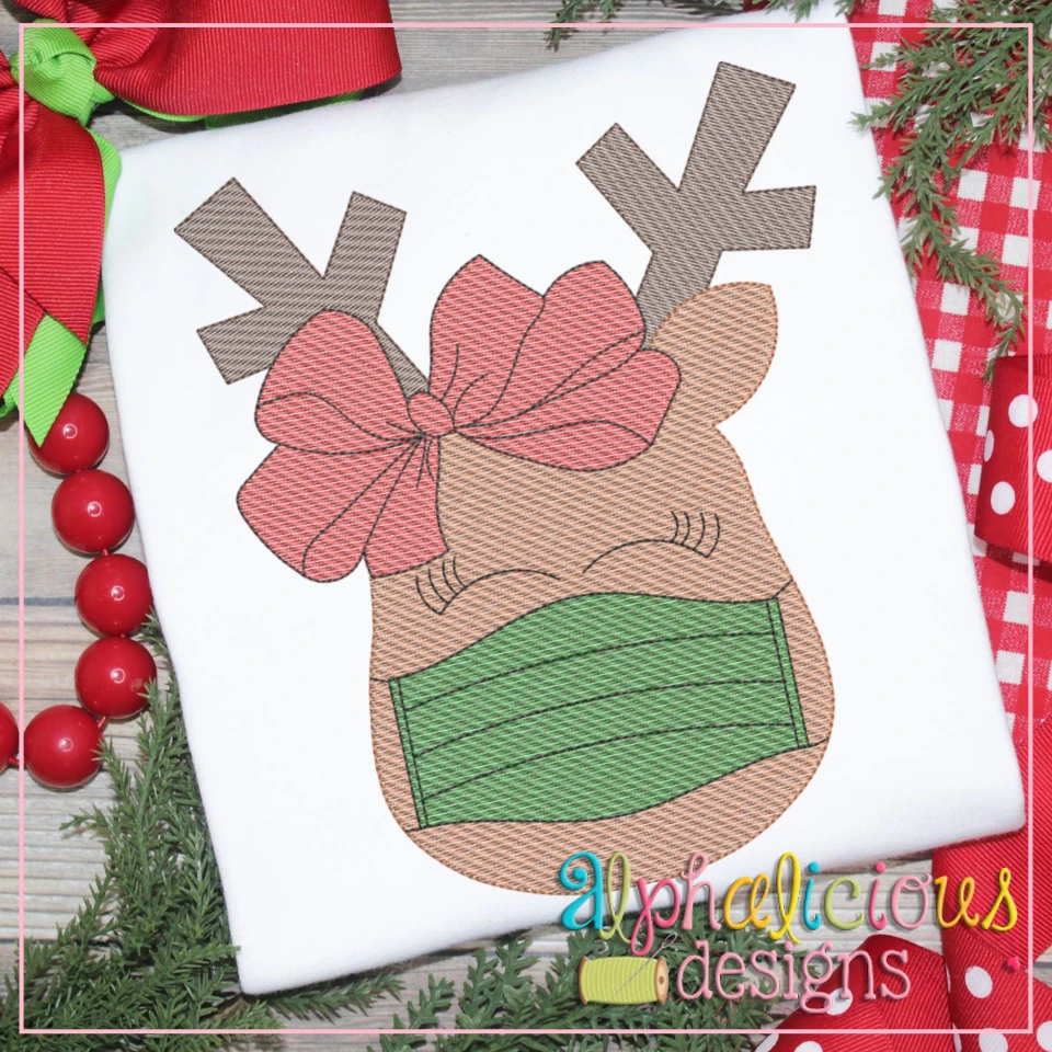 Masked Reindeer with Bow-Sketch