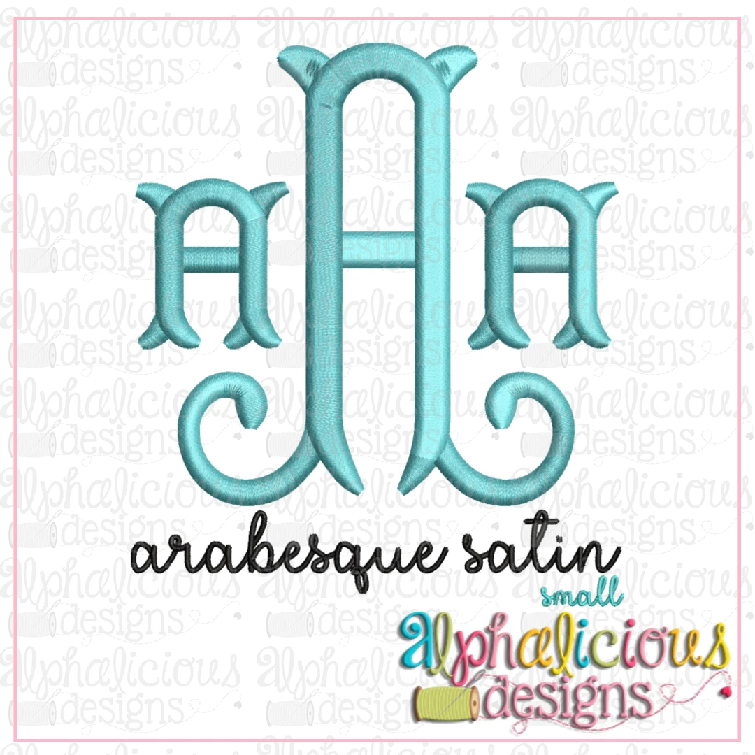 Arabesque Satin Embroidery Font- Insiders