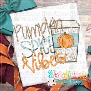 Pumpkin Spice Vibes-Orange Polka Dot -Printable