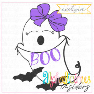 Big Bow Boo- SVG-Bizzy Mama