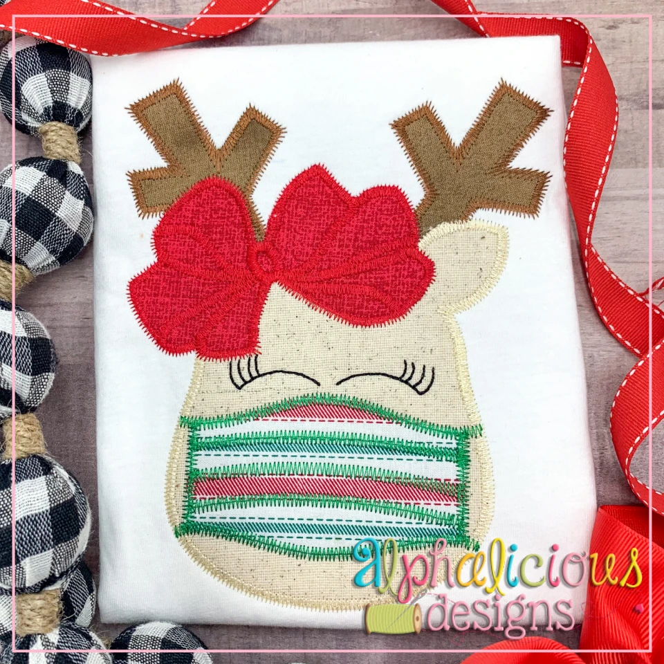 Masked Reindeer with Bow - ZigZag