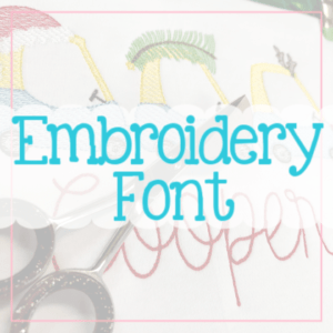 Embroidery Fonts Fonts AS