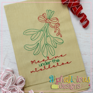 Mistletoe with Ribbon - Vintage Embroidery Design