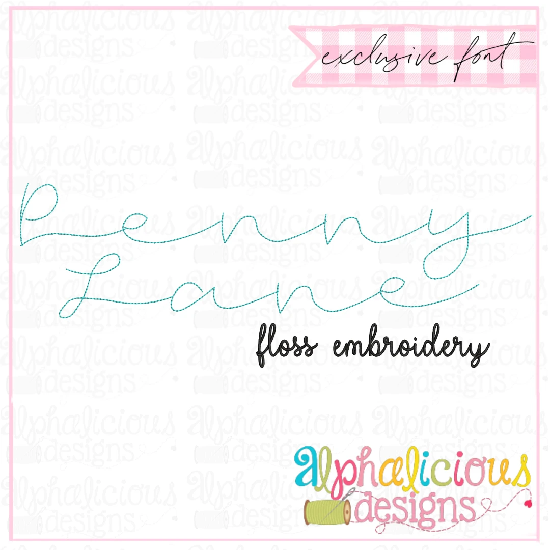 Penny Lane Floss Embroidery Font- Insiders