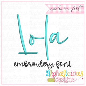 Lola Satin Embroidery Font