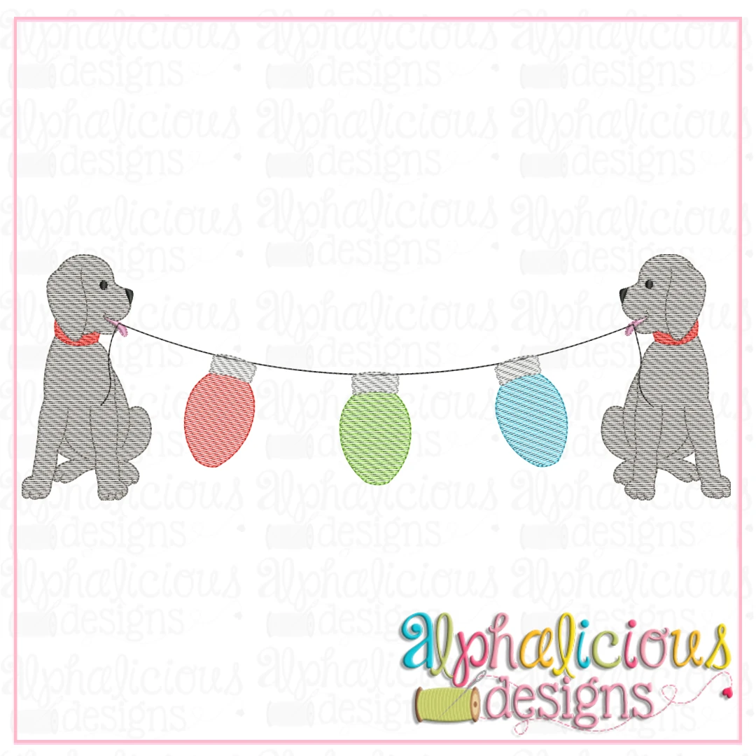 Pup Bunting - Lights - Sketch