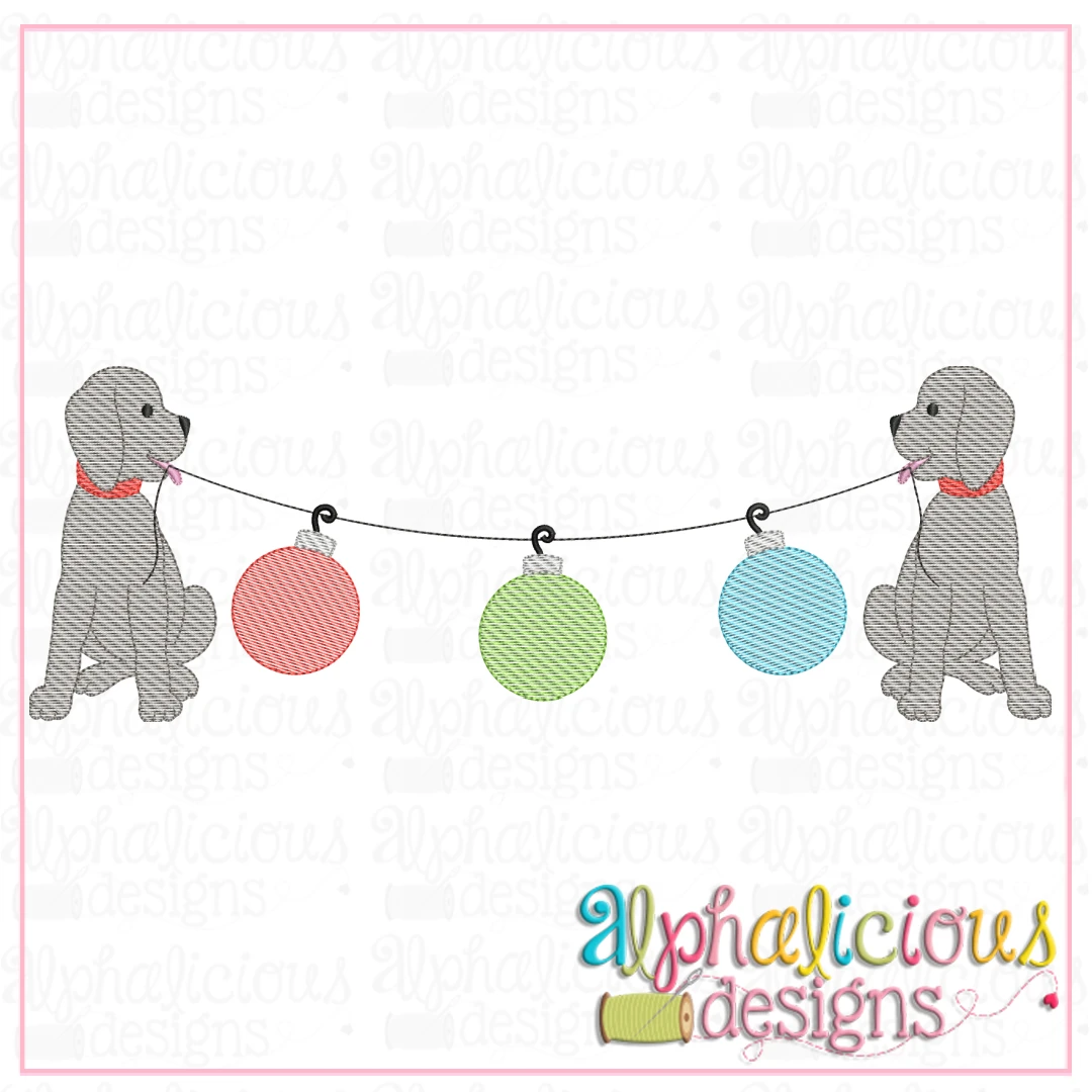 Pup Bunting - Ornaments - Sketch