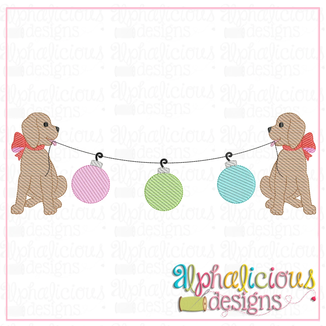 Pup Bunting with Bow - Ornaments - Sketch