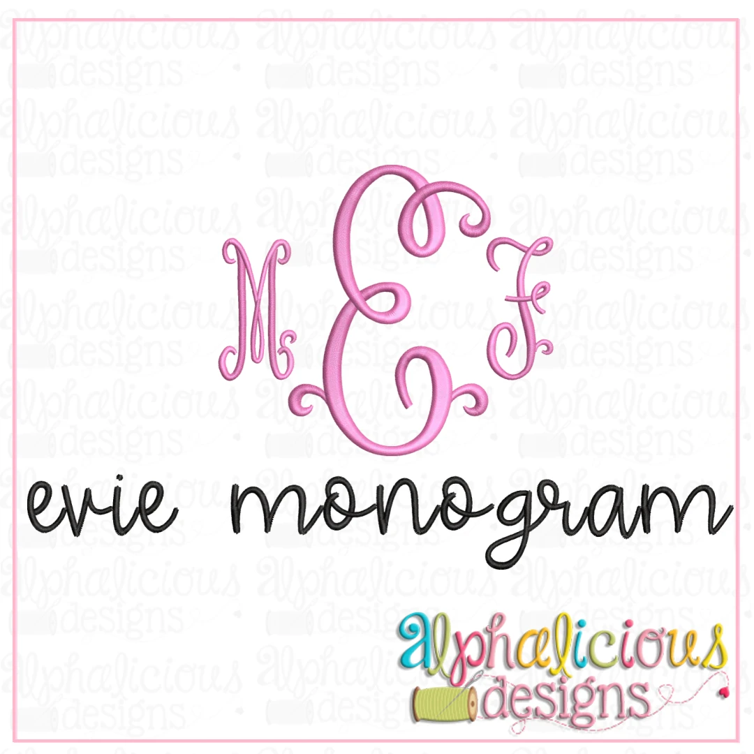 Evie Monogram Embroidery Font- Insiders