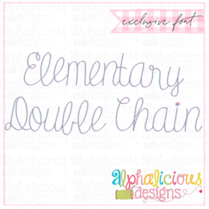 Elementary Double Chain Font- Insider's
