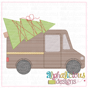 BROWN Truck with Tree- Sketch