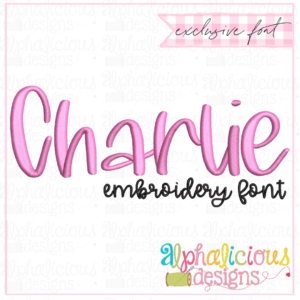 Charlie Embroidery Font - Satin - Insider's