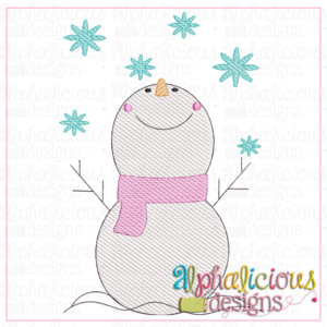 Snowman With Snowflakes- Sketch