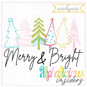 Merry & Bright Trees - Colorful - Printable - Insider's Exclusive