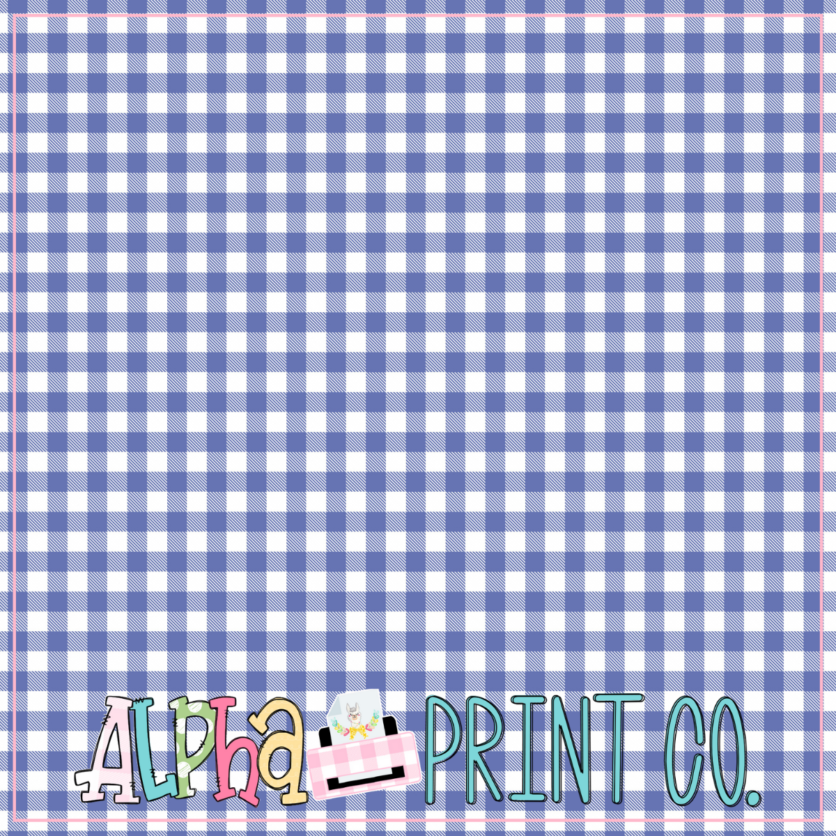 Backdrop- Distressed Wood- Navy Gingham